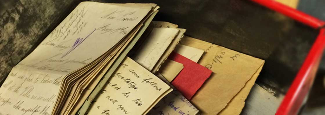 An Foras Feasa - Open Box Of Letters - Maynooth University