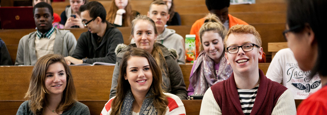 Business - Students in lecture theatre - Maynooth University