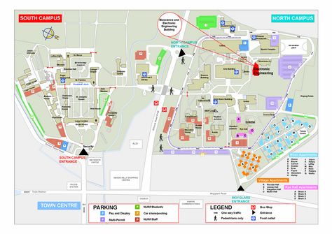 North Campus Map - Maynooth University