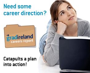 Student thinking of career options using careers report