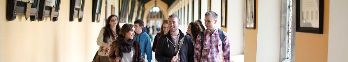 Students Walking Through the Cloisters - Maynooth University