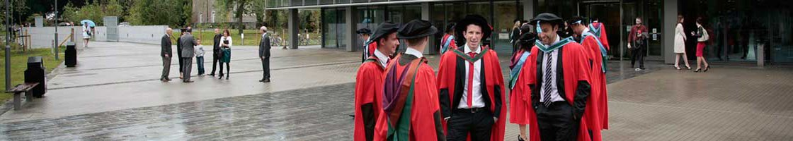 Conferring Outside the Library - Male Students - Maynooth University