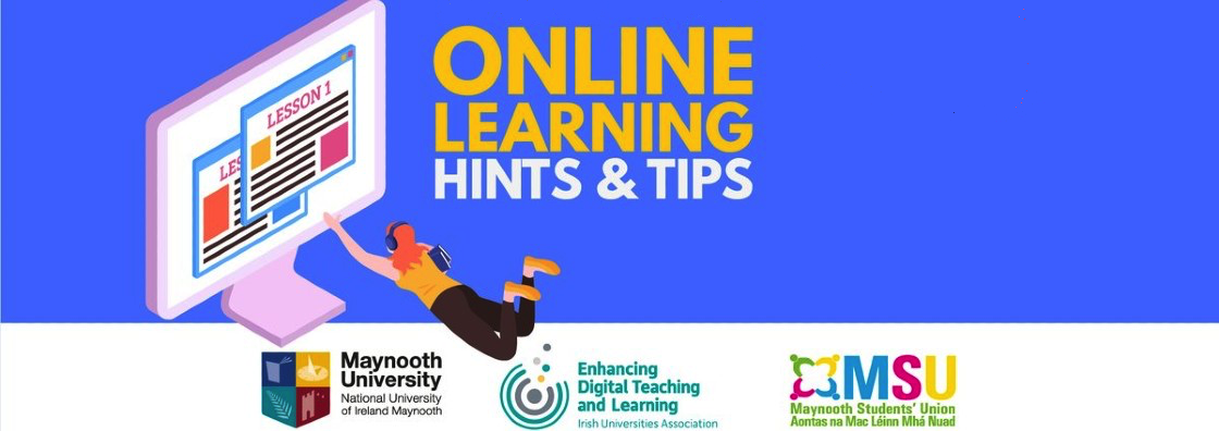 EDTL - Top 10 Online Learning Tips Banner - Maynooth University