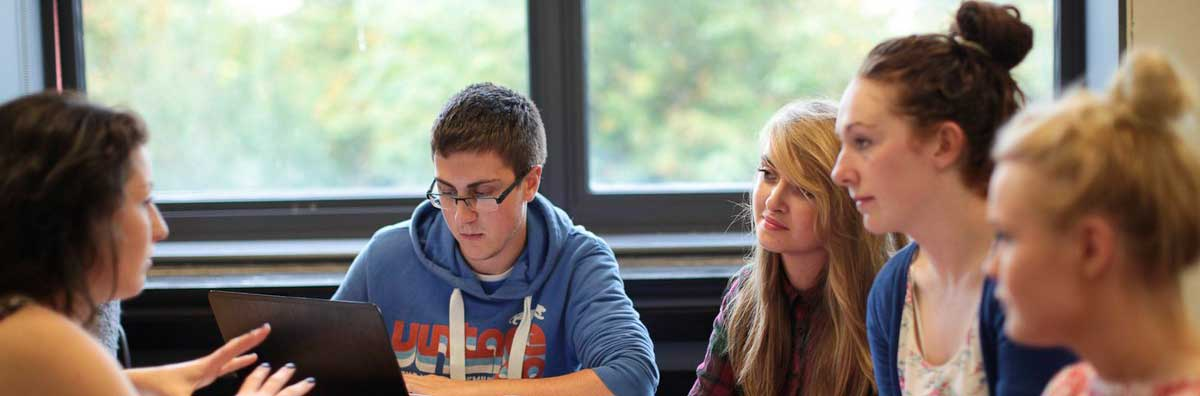 Education Group - Students Working away - Maynooth University