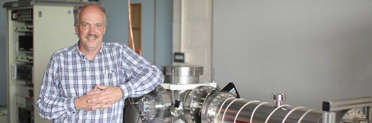 Experimental Physics - Lecturer Beside Equipment - Maynooth University