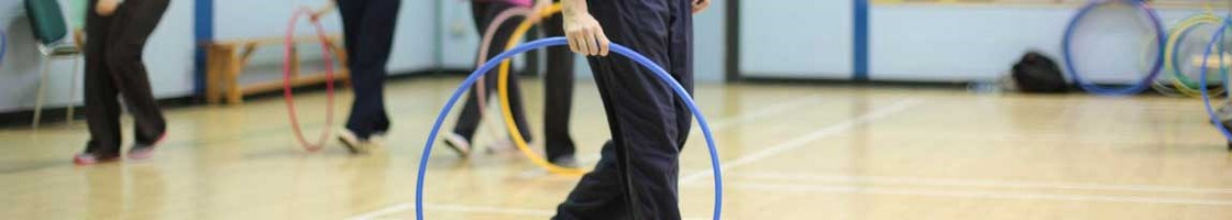 Froebel PE - Male Student with Hula Hoop - Maynooth University