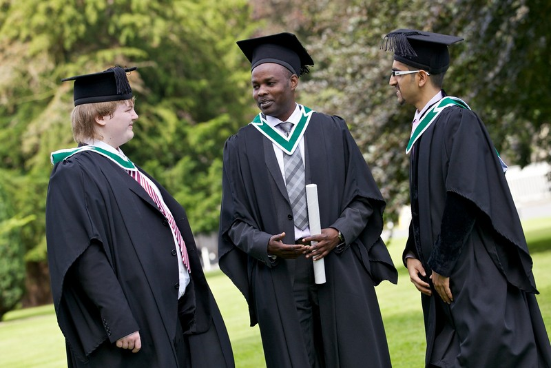 Graduation 2012 - males chatting in St Joes  - Maynooth University