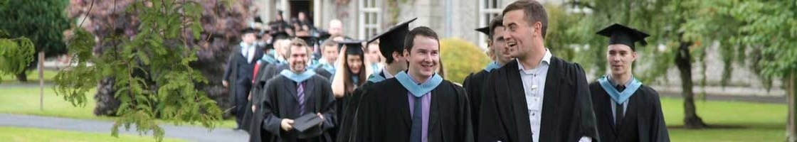 Graduation Procession - Graduates Walking Towards the Camera - Maynooth University