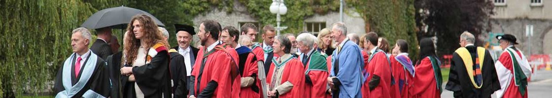 Graduation Procession - Getting Ready to Walk in - Maynooth University