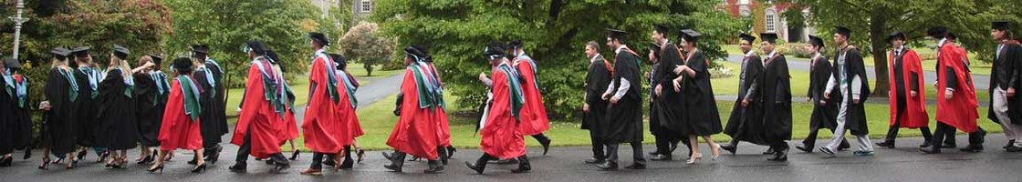 Graduation Procession - Graduates Walking - Maynooth University