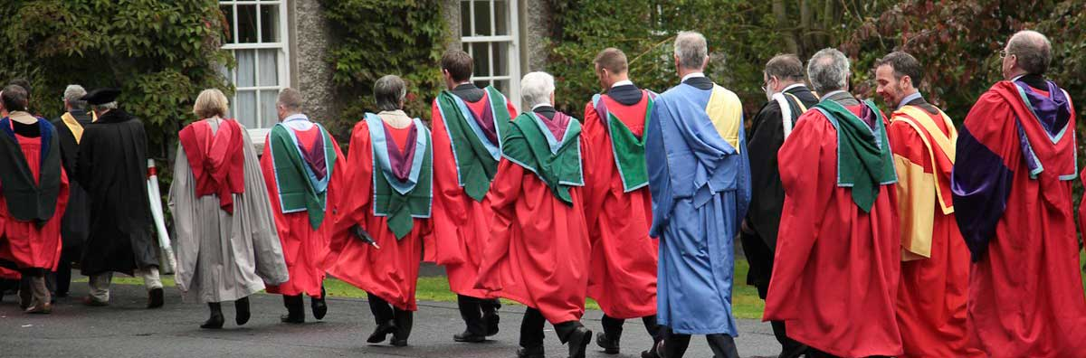 Graduation Procession - Walking to the Ceremony  - Maynooth University