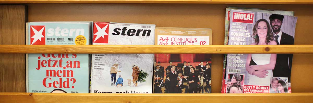 Language Centre - Magazines on Shelf - Maynooth University