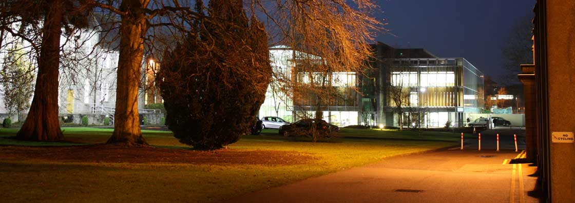 Micheal Bolger - Library at night - Maynooth University