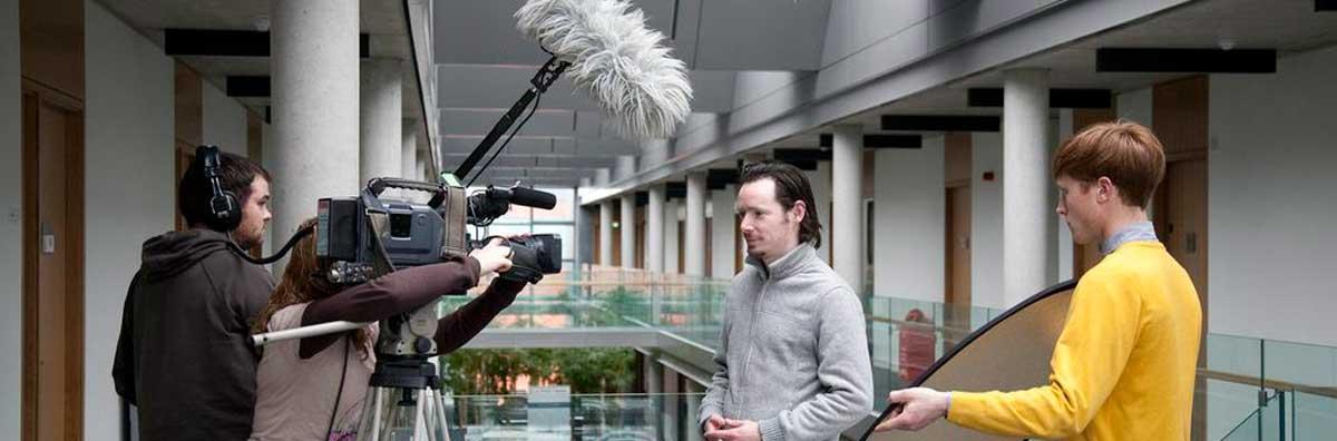 Media Studies - Students Filming - Maynooth University