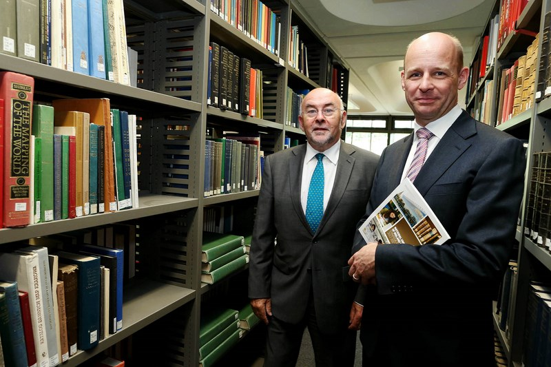 Minister Ruairi Quinn with Professor Philip Nolan - Maynooth University