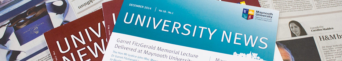 Communications - Newsletter single head banner - Maynooth University