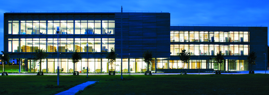 Iontas at night (blue) - Maynooth University