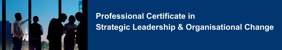 Professional Certificate in Strategic Leadership & Organisational Change