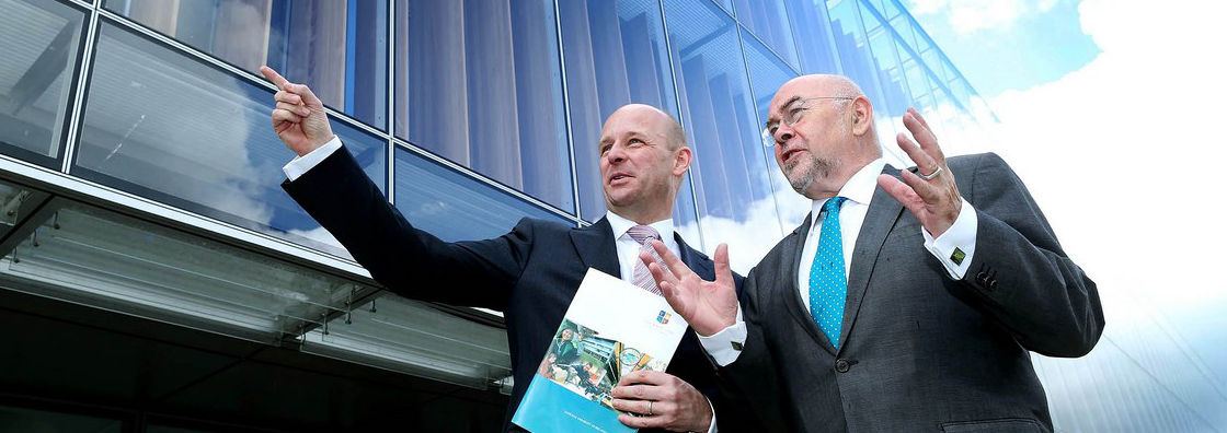 Professor Philip Nolan with Minister Ruairi Quinn - Maynooth University