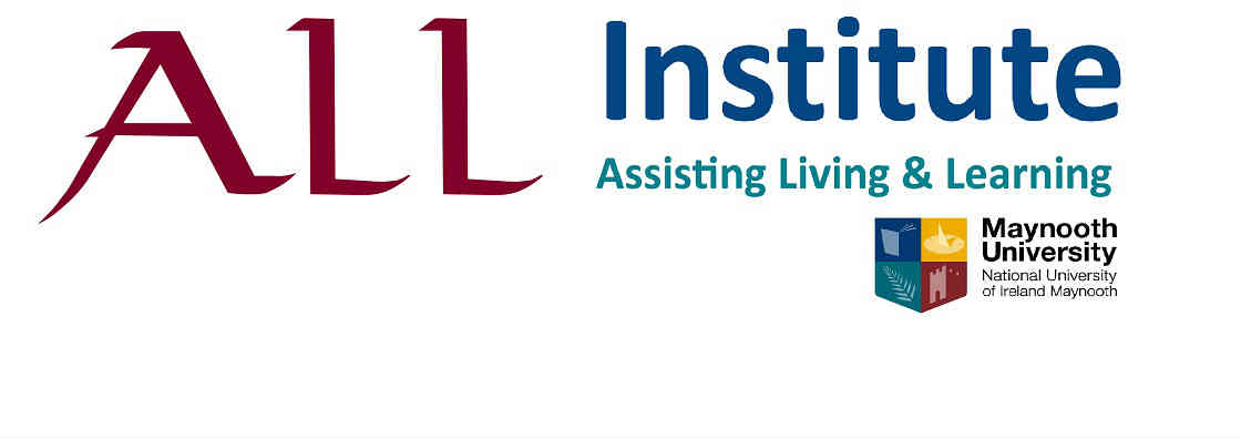 ALL Institute Logo with Maynooth University Logo