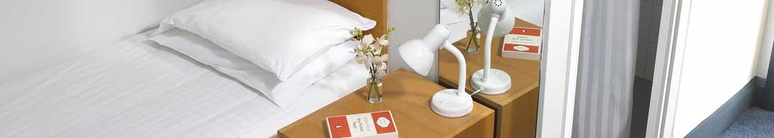 Residence Office River_bedroom_white_duvet -  Maynooth University