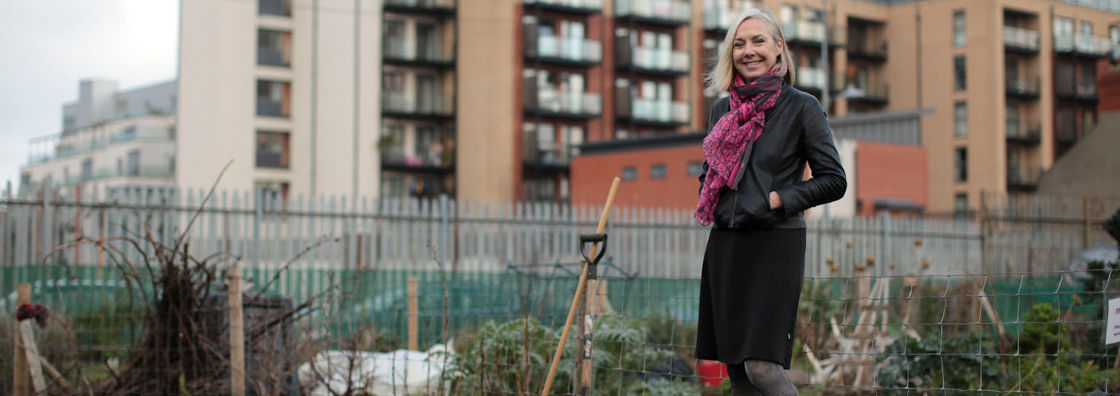 Sociology Mary Corcoran in an allotment - Maynooth University