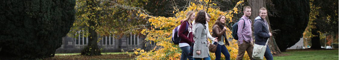 Students Walking on South Campus - Maynooth University