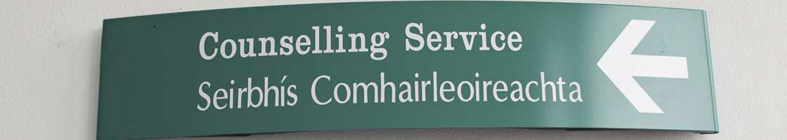 Student Services - Counselling service sign 1120 x 200 - Maynooth University
