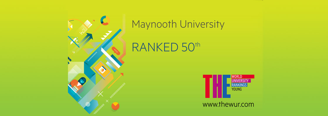 Text reading 'Maynooth University Ranked 50th'