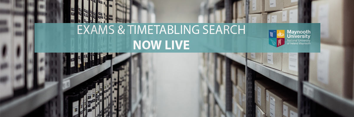 Exams & Timetabling Search Tool, Maynooth University