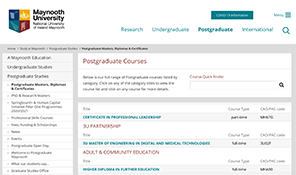Find a PG course