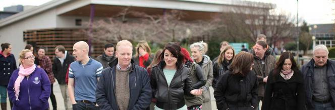 Adult Education - Big Group Walking - Maynooth University