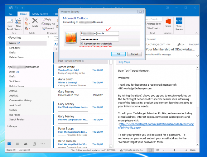 Outlook 2016 Screenshots | Maynooth University