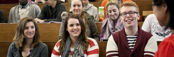 Communications & Marketing - Students in Lecture Theatre - Maynooth University