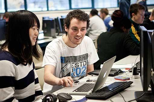 Communications - Students at computers - Maynooth University