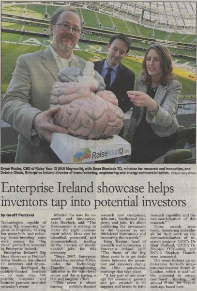 RaiseYourIq Enterprise Ireland Examiner