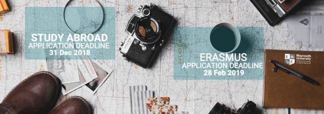 Study abroad deadlines (Erasmus)