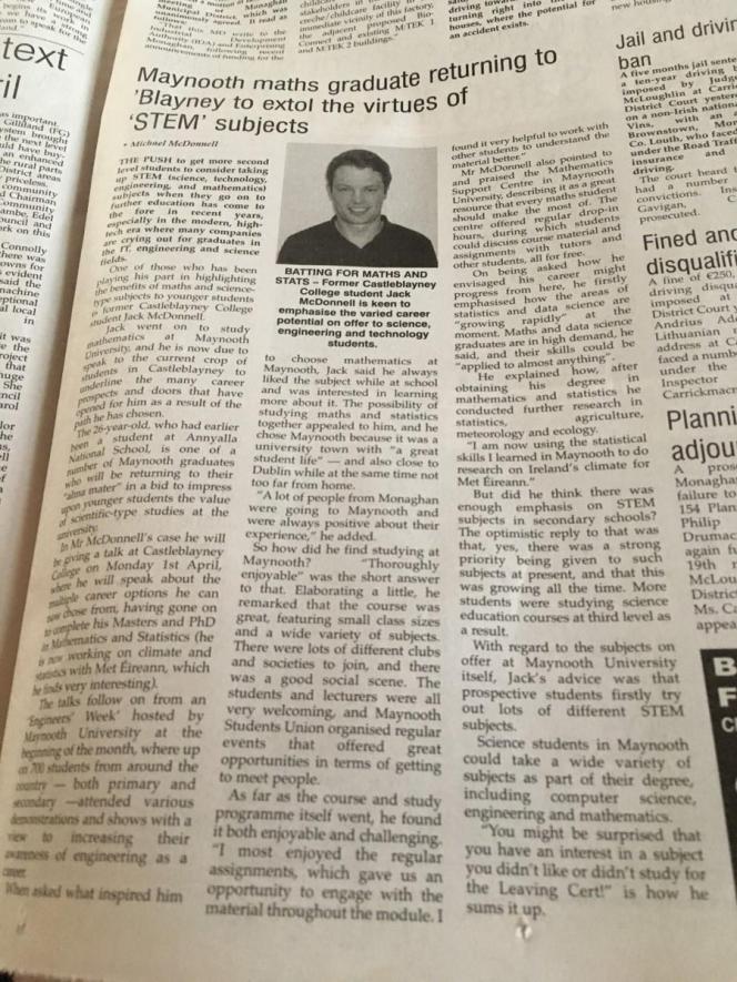 Jack's article on STEM