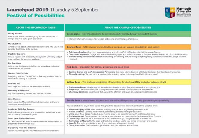 Launchpad 2019 Timetable Page 2