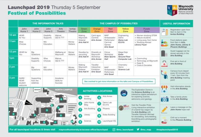 Launchpad 2019 Timetable