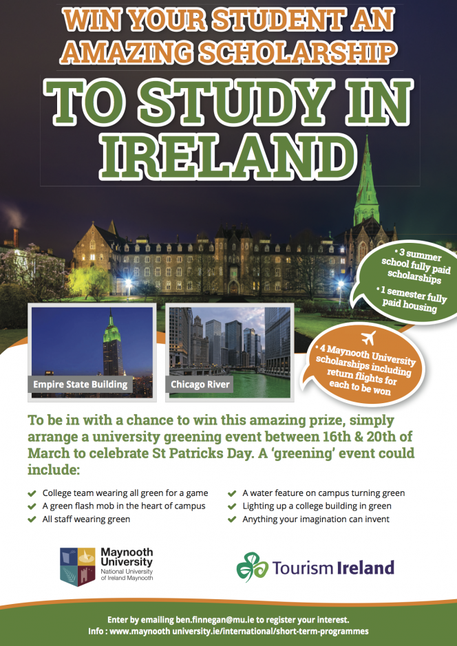 IO_MU Tourism Ireland Scholarship for US students 2020
