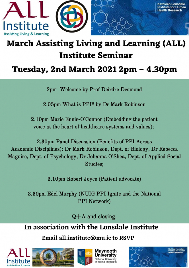 ALL Institute virtual Seminar in association with the Lonsdale Institute, Tuesday, 2nd March 2021