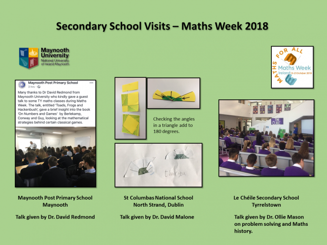 Maths Week School Visits 2018