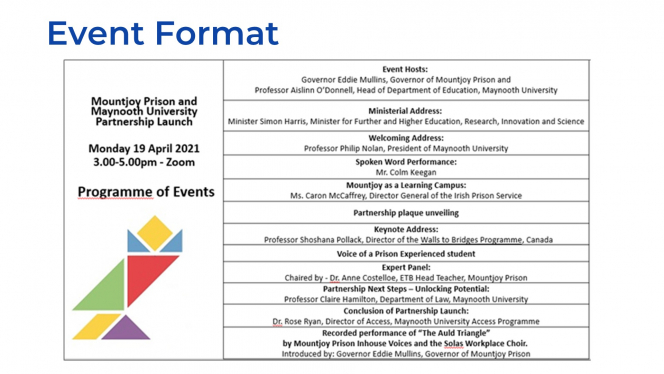 MJMU Event Launch Running Order