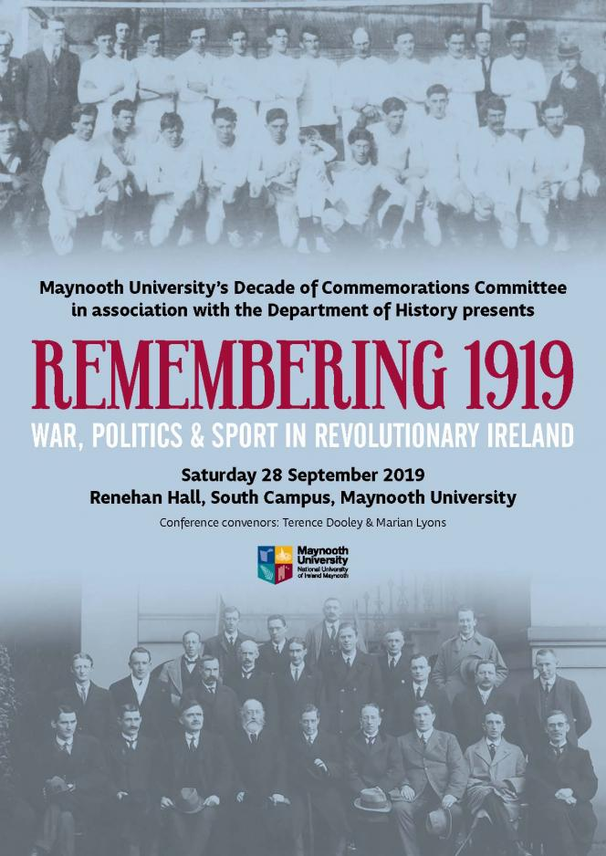 Remembering 1919 Conference programme cover