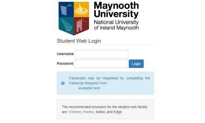 Student Web Login