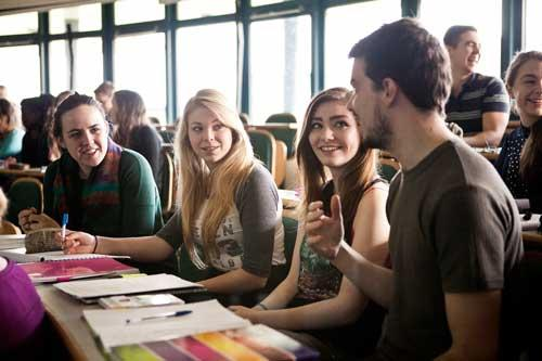 Communications & Marketing - Students in class - Maynooth University