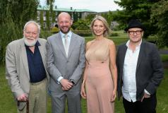 Poet Michael Longley, Prof Philip Nolan, Maynooth University graduate, composer and singer, Eimear Quinn and film director Lenny Abrahamson
