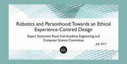 Robotics and Personhood: Expert Statement