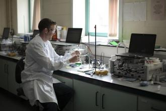 Chemistry - Fiachra Bolger in Lab - Maynooth University